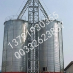 饲料厂用大型储存库,饲料钢板仓价格,粮食钢板库造价