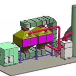 催化燃燒廢氣處理環保設備工作原理及結構圖