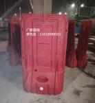 深圳市政施工防撞水马 塑料防撞滚塑水马 2米高水马