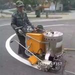 停车场小型划线机热熔斑马线喷线机路面专业标线