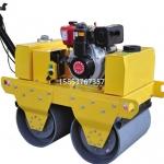 双钢轮手推压路机小型回填土碾地机参数