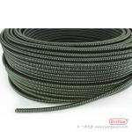 金属防水波浪软管 黑色PVC包塑金属波纹管