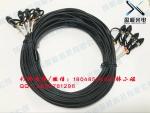 4芯单模铠装野战光缆FC-FC 长度可定制 盈极光电