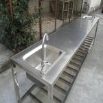 供应非标定制不锈钢双星水槽工作台厨房卫生台操作台清洗台洗手池