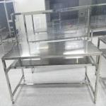 供应加工定制批发不锈钢工作台冲孔工作台双层洁净无尘工作台