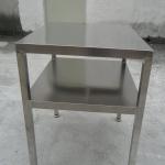 供应不锈钢工作台 定制二层台面小工作台 不锈钢桌子