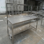 供应定制不锈钢冲孔工作台二层洁净无尘操作检测流水线工作台