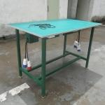 厂家专业定做防静电工作台铁烤漆操作使用台不锈钢电机车间工作台