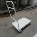 厂家供应定制批发铁烤漆平板推车 设备配用高承重长久使用推车