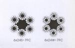 成都供应6x24S+7FC,6x24W+7FC线接触钢丝绳(
