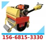 山东供应手拖式单筒羊脚块压路机 小碾子压路机