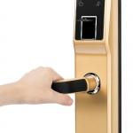 厂家直销指纹锁家用智能防盗门锁大门锁锁电子刷卡感应密码锁