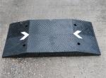 鹏翔瑞 加长加厚橡胶减速带 码头减速路拱 1米长减速垫