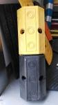 车轮定位器 黄黑定位器 橡胶挡车器 4.3KG 质优价惠