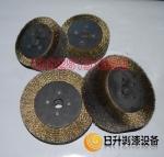平行钢丝刷 平行抛光刷 不锈钢丝轮|