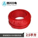 四川三电家装铜芯单芯电线 国标100米 BV2.5 红色火线