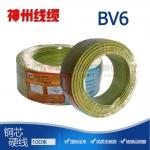 四川阻燃电缆 神州线缆100米BV6 阻燃线国标 硬线