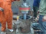 液压缸安装及修理现场