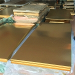 H62黄铜薄板 光面贴膜黄铜板可切割