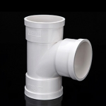 广东力西奇PVC排水管件等径三通顺水三通18年品牌厂家