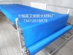 无机卷帘装饰布 蓝色防火布 加工设备防护罩