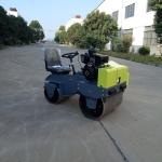 小型座驾式双钢轮压路机 振动式全液压路碾子