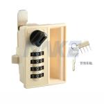 美科4位密码机箱机柜锁,使用方法