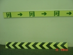 夜光pvc紧急疏散,消防通道疏散指示条,夜光标志牌