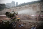 作業面除塵霧炮也可用作混凝土養護噴霧炮效果好不匯聚成坑