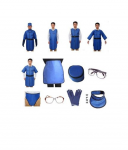 I-V类放射源防护服-防核服-全密封连体带帽防核服