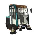 水泥地面全封闭节能清扫车|可吸尘扫地洒水多功能驾驶室扫地机