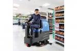 大型驾驶室双刷洗地机 电瓶式盘刷洗地机厂家容恩洗地机