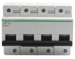 施耐德電氣C120H 4P C型微型斷路器A9N系列
