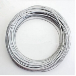 磨床钢丝绳 平面磨床绳 白色透明包塑吊绳 模具磨床绳 直径4