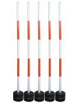 厂家直销叉车考试练习边线杆练车杆线边杆反光叉车杆训练杆