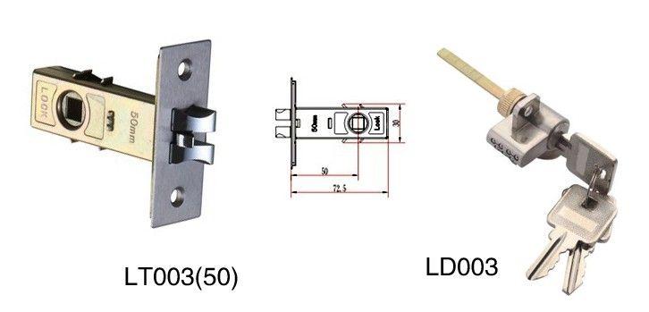 高档铝合金门锁   5,人性化的使用功能,室内出门时只要下压把手,锁具