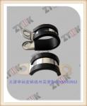 碳钢R型并孔管夹厂家批发,包胶防滑通用固定线卡来图来样订制
