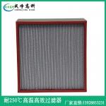 陜西西安市耐300℃-400℃高溫高效空氣過濾器