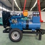 30kw千瓦柴油發電機組帶兩輪拖車 山東康明斯工廠發貨