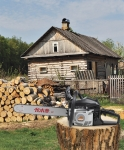 中坚伐木者656油锯 伐木锯大功率配进口链条汽油锯