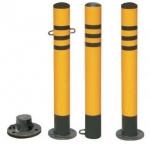 南宁红昌防护桩JLA-FHZ反光防撞桩,优质钢管高压墙漆