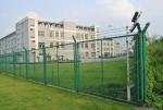边框焊接式浸塑铁丝网:厂区防护网生产厂家