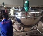 电加热带搅拌夹层锅/食堂炒菜锅