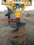 钻坑机图片打风化石鹅软石专用打坑机