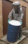 呼吸器内置型液氨气体泄漏防护服