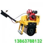 手扶单轮压土机 建筑工地小型压土机 单钢轮振动压路机