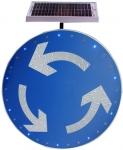 太阳能环岛标志牌 公路安全标志牌