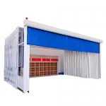 移動伸縮噴漆房結構特點及價格