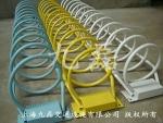 螺旋式自行车停车架,公路圆形防盗停放架价格