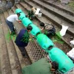 芙蓉水下挂网浮体 水面拦污浮筒 警示浮筒